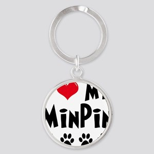 I-Love-My-Min-Pin Round Keychain