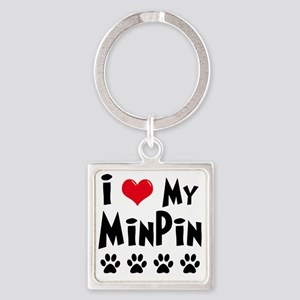 I-Love-My-Min-Pin Square Keychain