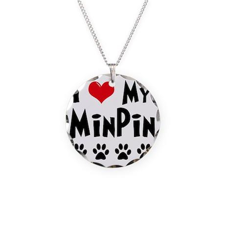 I-Love-My-Min-Pin Necklace Circle Charm