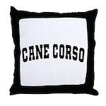 Cane Corso Black Throw Pillow