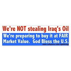 Iraqi Oil Bumper Bumper Sticker
