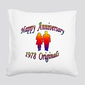 ann 1978 Square Canvas Pillow