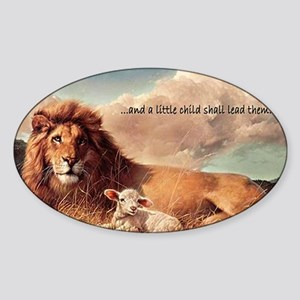 greeting card and little child Sticker (Oval)