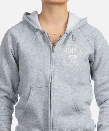 Min-Pin-University-dark Zip Hoodie