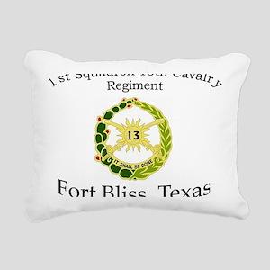 1st Squadron 13th Cav Rectangular Canvas Pillow