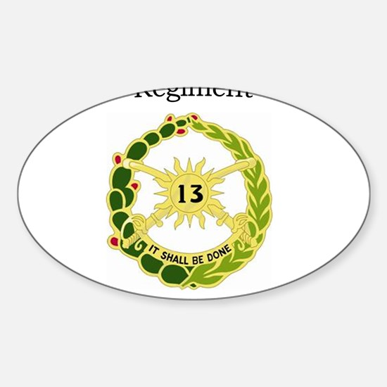 1st Squadron 13th Cav Sticker (Oval)