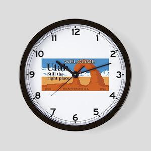 Welcome to Utah - USA Wall Clock