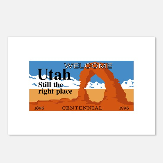 Welcome to Utah - USA Postcards (Package of 8)