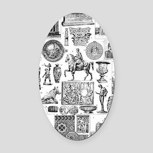 Roman Art II Oval Car Magnet