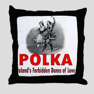 ART Forbidden Polka 1 Throw Pillow