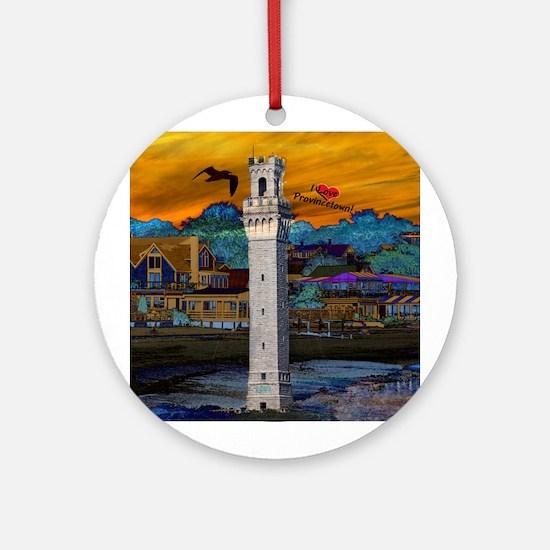 I Love Provincetown Ornament (Round)