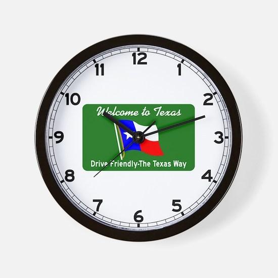 Welcome to Texas - USA Wall Clock