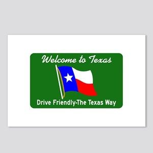 Welcome to Texas - USA Postcards (Package of 8)