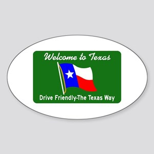 Welcome to Texas - USA Oval Sticker