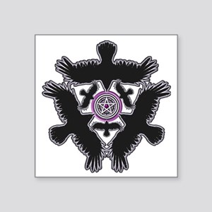 "Eleven Crow Pentagram - Pur Square Sticker 3"" x 3"""