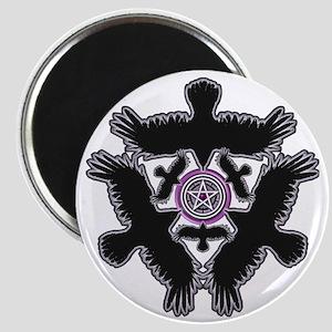 Eleven Crow Pentagram - Purple Magnet