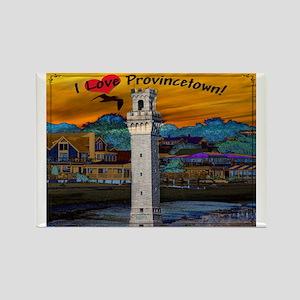 I Love Provincetown Rectangle Magnet