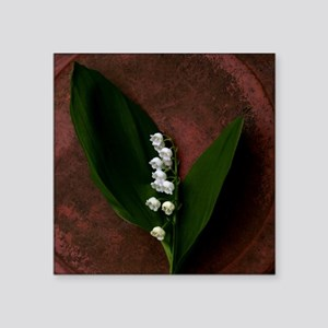 "Lily of the Valley Keepsake Square Sticker 3"" x 3"""