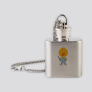 SurgTechChickDkT Flask Necklace