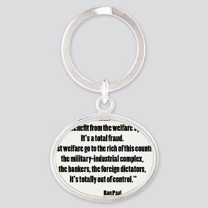 paulwel Oval Keychain