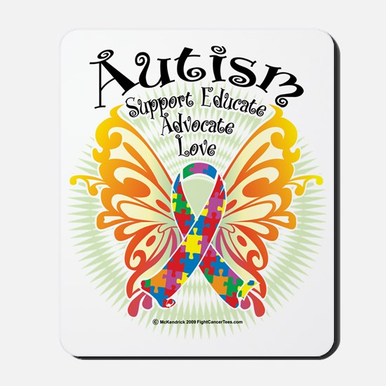 Autism-Butterfly-3 Mousepad