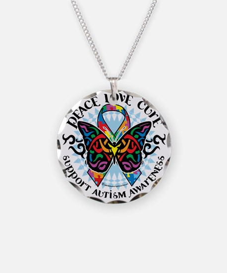Autism-Butterfly-Tribal-2 Necklace