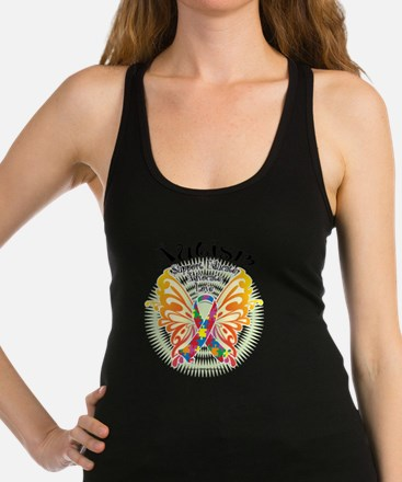 Autism-Butterfly-3 Racerback Tank Top