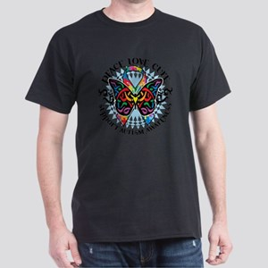 Autism-Butterfly-Tribal-2 Dark T-Shirt