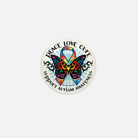 Autism-Butterfly-Tribal-2 Mini Button