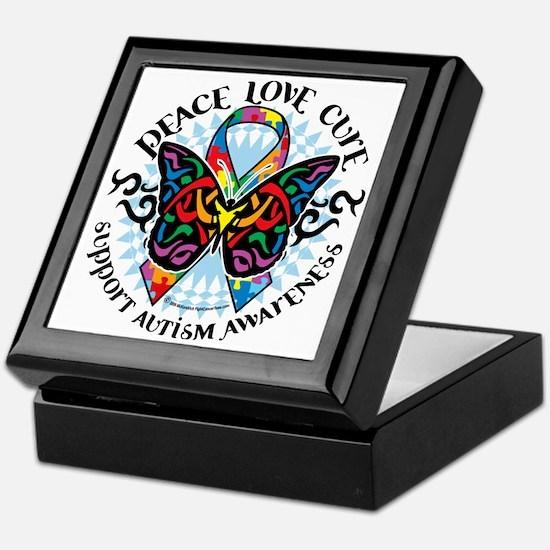 Autism-Butterfly-Tribal-2 Keepsake Box