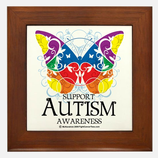 Autism-Butterfly Framed Tile