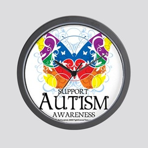 Autism-Butterfly Wall Clock