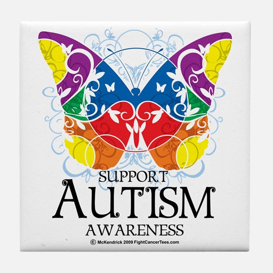 Autism-Butterfly Tile Coaster