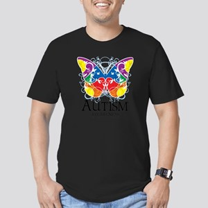 Autism-Butterfly Men's Fitted T-Shirt (dark)