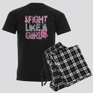 BC-Fight-Like-A-Girl-2-blk Men's Dark Pajamas