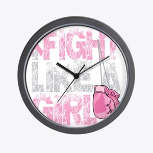 BC-Fight-Like-A-Girl-2-blk Wall Clock