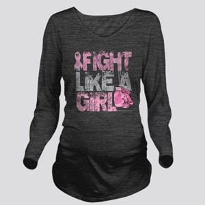 BC-Fight-Like-A-Girl Long Sleeve Maternity T-Shirt