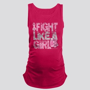 BC-Fight-Like-A-Girl-2-blk Maternity Tank Top
