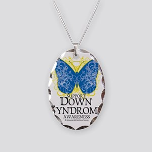 Down-Syndrome-Butterfly Necklace Oval Charm