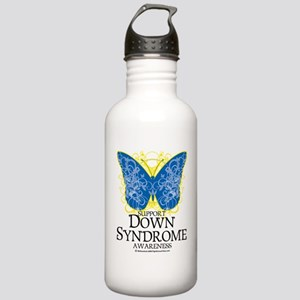 Down-Syndrome-Butterfl Stainless Water Bottle 1.0L