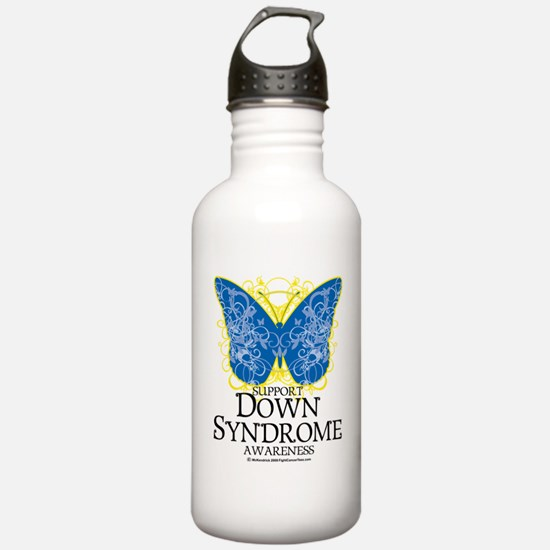 Down-Syndrome-Butterfl Water Bottle