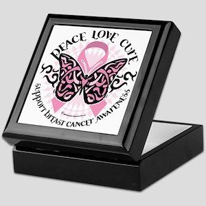 Breast-Cancer-Butterfly-Tribal-3 Keepsake Box