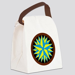 triple star hex blk Canvas Lunch Bag
