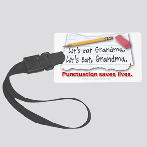 punctuation-shirt Large Luggage Tag