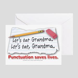 punctuation-shirt Greeting Card