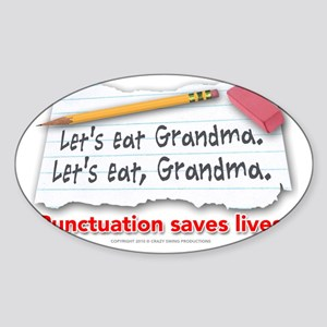 punctuation-shirt Sticker (Oval)