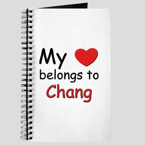My heart belongs to chang Journal
