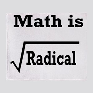 math is radical Throw Blanket