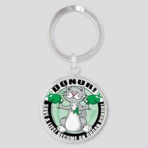 Organ-Donor-Cat-Donor Round Keychain