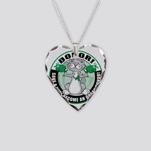 Organ-Donor-Cat-Donor Necklace Heart Charm